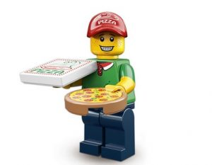 Lego Pizzabote Figur Serie 12