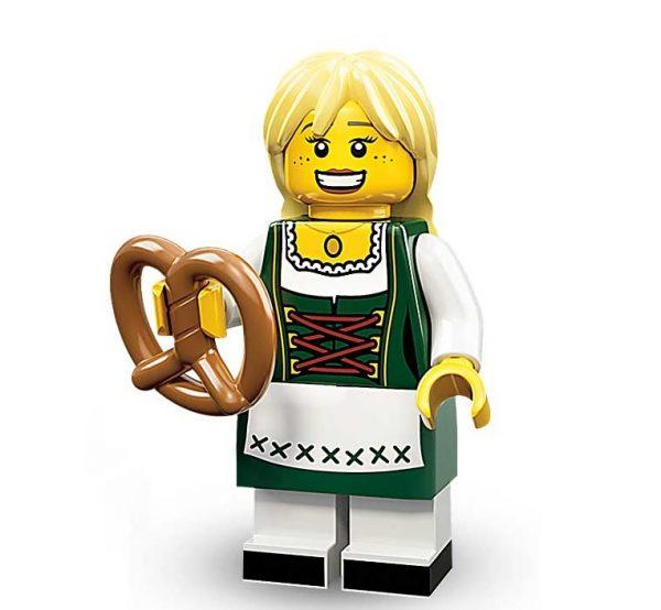 Lego Minifigures Serie 11 Dirndl Trägerin mit Bretzel - Lego Sammelfiguren Shop