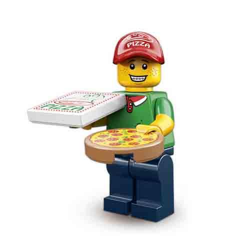 Lego Minifiguren Pizza Lieferant
