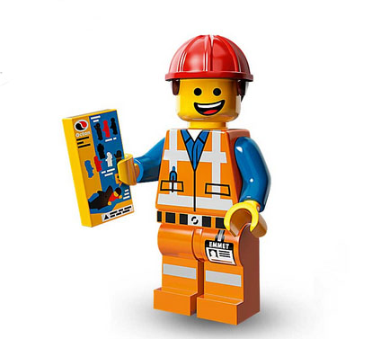 lego movie minifiguren emmet der bauarbeiter