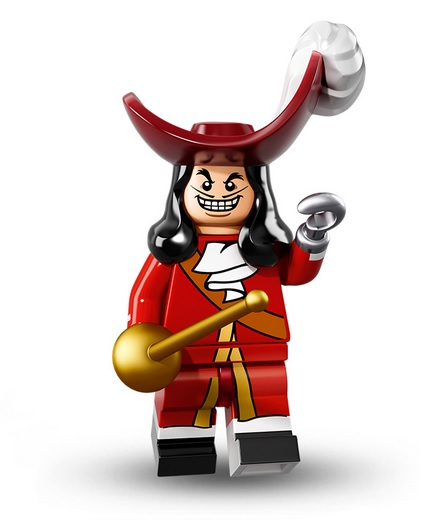 lego disney figur captain hook
