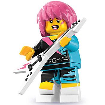 lego serie 7 punk girl mit gitarre