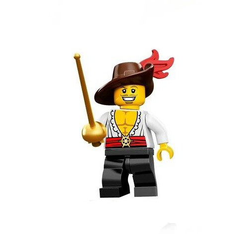lego serie 12 minifigures haudegen musketier